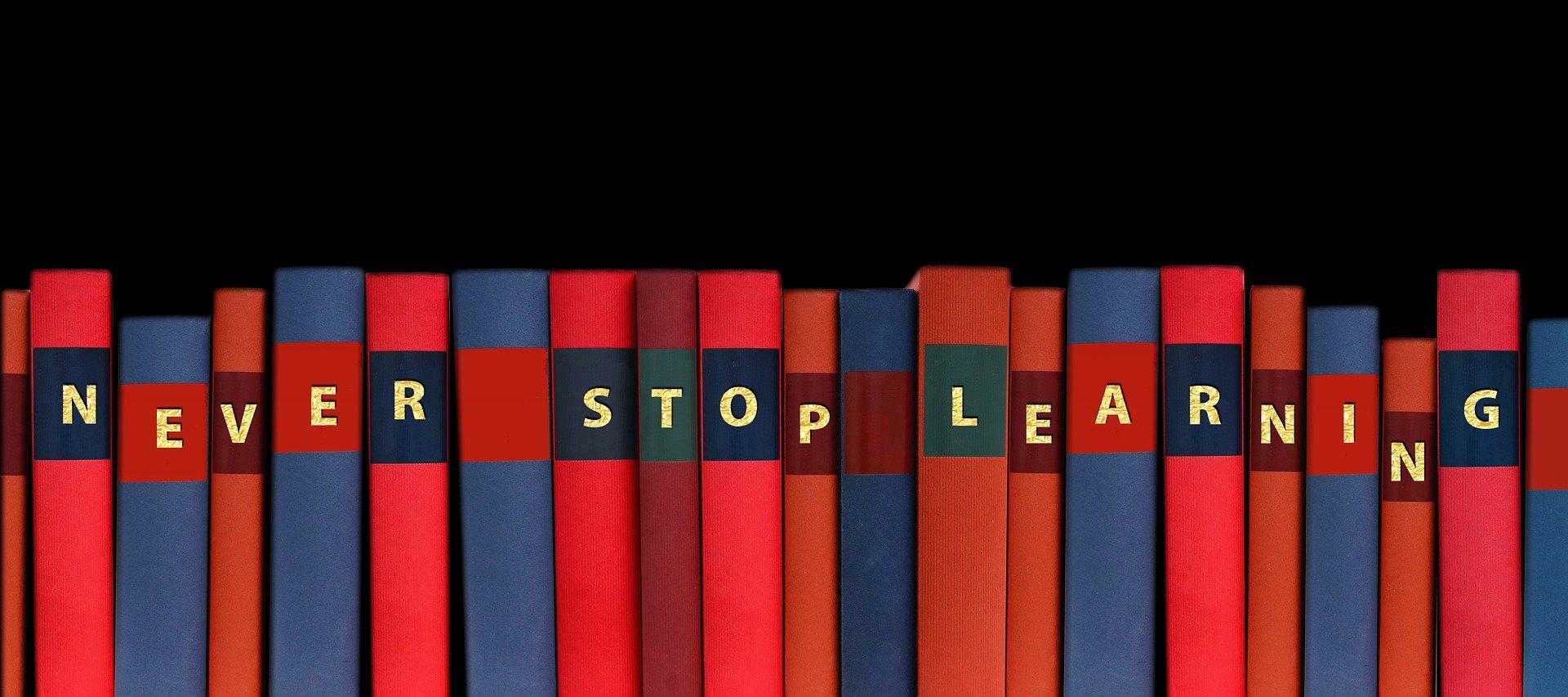 stop aldrig med at lære